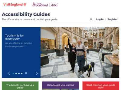 Screenshot of accessibilityguides.org