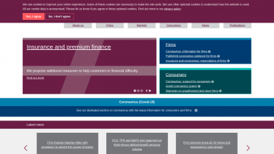 Screenshot of fca.org.uk