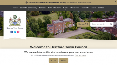 Screenshot of hertford.gov.uk