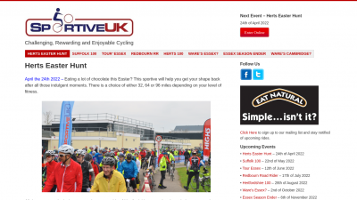 Screenshot of sportiveuk.co.uk