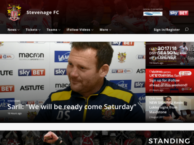 Screenshot of stevenagefc.com