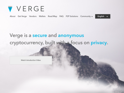 Screenshot of vergecurrency.com